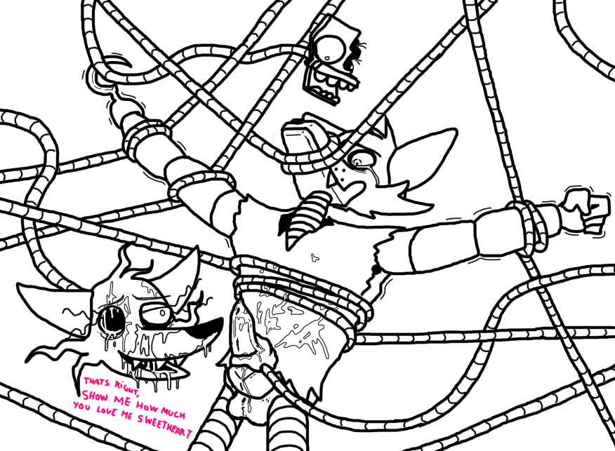 fanfiction foxy mangle and fnaf Basaran shadow of the colossus