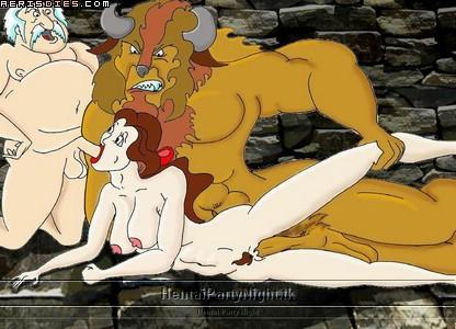 and beauty gif hentai the beast Guilty gear xrd nude mod