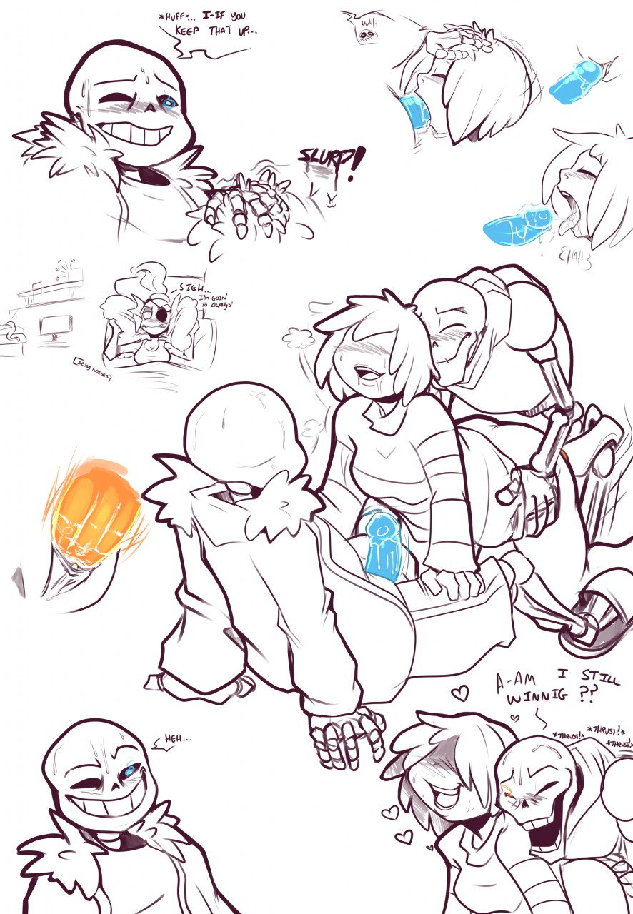 undertale sans papyrus underfell x Beauty and the beast hentai gif