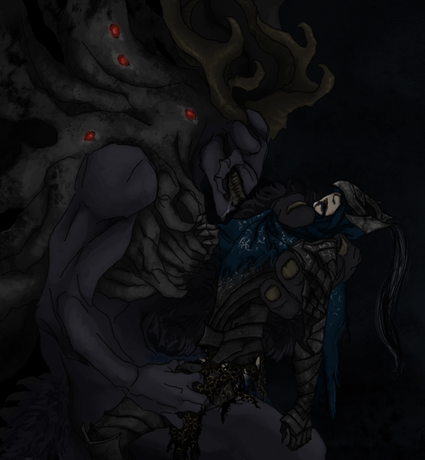 souls 3 dark knight corvian Trials in tainted space art